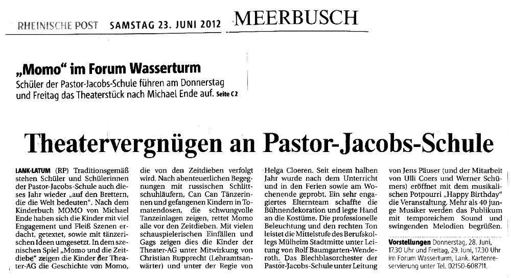 RP vom 23.06.2012   www.rp-online.de/region-duesseldorf/meerbusch