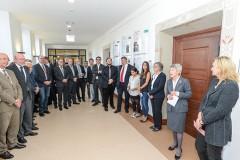 """Eröffnung der Ausstellung """"Grenzerfahrung"""" der Klasse HGC-O im Mülheimer Rathaus am  01.10.2015   Quelle: Walter Schernstein"""