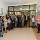 """Eröffnung der Ausstellung """"Grenzerfahrung"""" der Klasse HGC-O im Mülheimer Rathaus am 01.10.2015   Quelle: BK-Stadtmitte"""