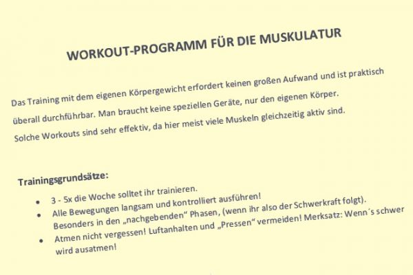 Workout-Programm